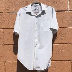 1950s Mens Short Sleeve Button Down Shirt
